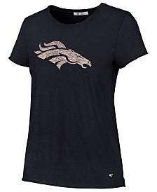'47 Brand Women's Denver Broncos Letter Crew T-Shirt
