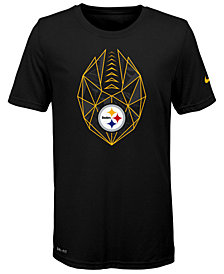 Nike Pittsburgh Steelers Football Icon T-Shirt, Big Boys (8-20)