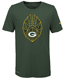 Nike Green Bay Packers Football Icon T-Shirt, Big Boys (8-20)