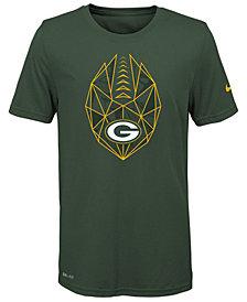 Nike Green Bay Packers Football Icon T-Shirt, Big Boys (8-20)