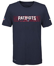 Nike New England Patriots Sideline T-Shirt, Big Boys (8-20)