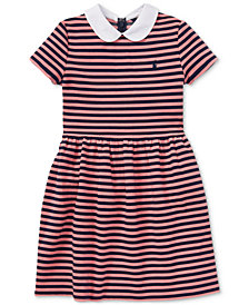 Polo Ralph Lauren Big Girls Striped Fit & Flare Dress