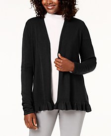 Karen Scott Ruffle-Hem Cardigan, Created for Macy's