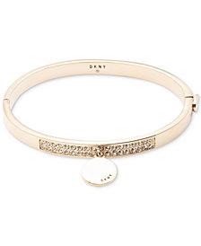 DKNY Pavé Charm Disc Bangle Bracelet