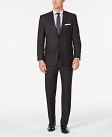 Marc New York by Andrew Marc Men's Modern-Fit Gray Windowpane Suit