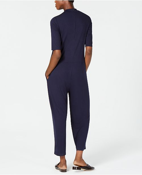 Fisher Petite Jumpsuit Mock Stretch amp; Jersey Midnight Neck Eileen Regular pxdq68p