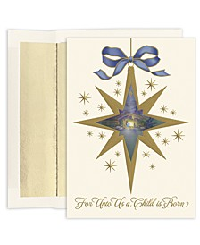 Nativity Star Boxed Cards