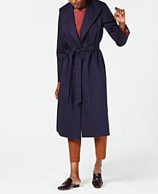 Eileen Fisher Organic Cotton Belted Coat