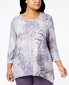 Alfred Dunner Plus Size Smart Investments Embellished Top