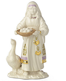 Lenox First Blessings Goose & Girl Figurine