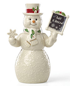 Lenox Let It Snow Snowman Figurine, Created for Macy's