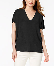 Anne Klein Double V-Neck Knit Top