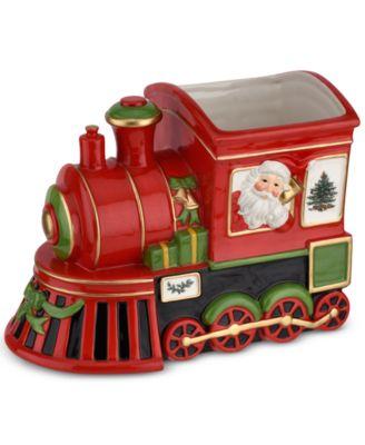 Christmas Tree Figural Train Bowl/Vase
