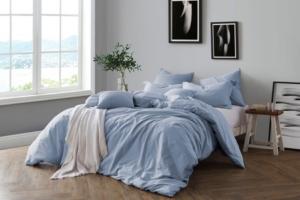 Yarn Dyed FullQueen Duvet Cover Set Bedding