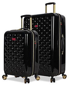 Betsey Johnson Heart to Heart Expandable Hardside Luggage Collection