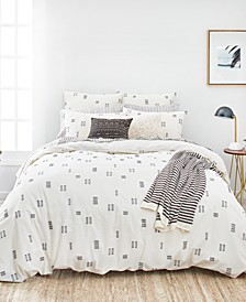 Crosshatch Twin Duvet Cover Set