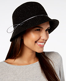 I.N.C. International Concepts Hatch-Weave Packable Cloche, Created for Macy's