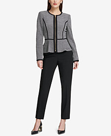 DKNY Knit Peplum Jacket & Skinny Pants, Created for Macy's