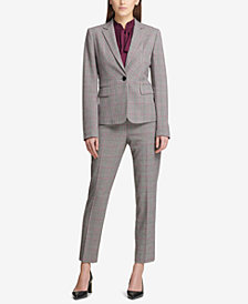 DKNY Plaid Jacket & Skinny Pants, Created for Macy's