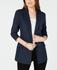 I.N.C. 3/4-Sleeve Blazer, Created for Macy's