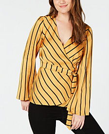 I.N.C. Petite Bell Sleeve Wrap Top, Created for Macy's