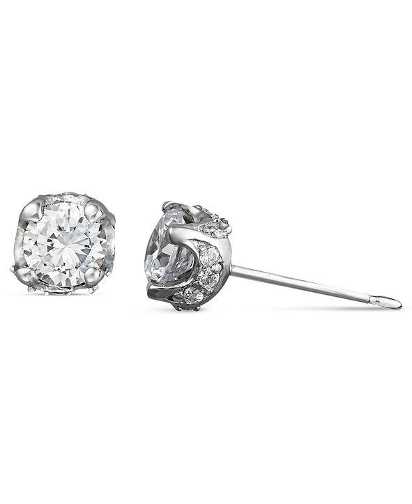 Macy's Pave Diamond Stud Earrings in 14k White Gold (1/2 ct. t.w.)