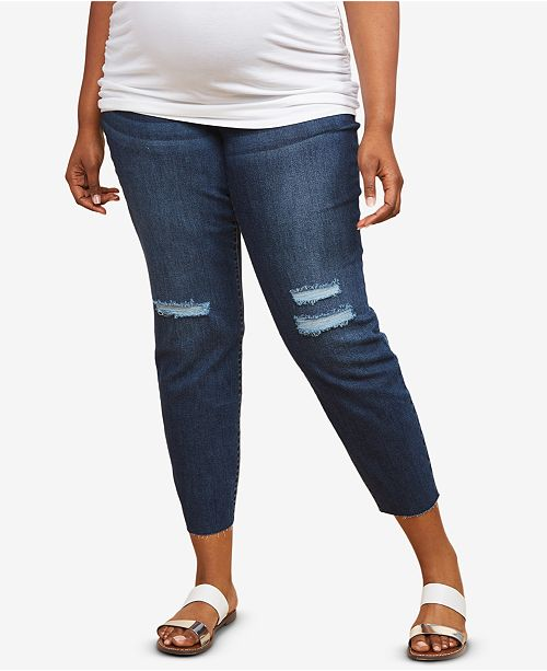 2be8ecc00c21 Jessica Simpson Maternity Plus Size Distressed Skinny Jeans ...