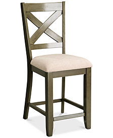 Omaha X-Back Bar Stool (Set Of 2), Quick Ship
