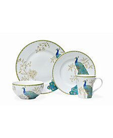 222 Fifth Peacock Garden 16 PC Dinnerware Set