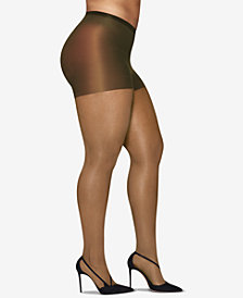 Hanes Curves Plus Size Silky Sheer Pantyhose