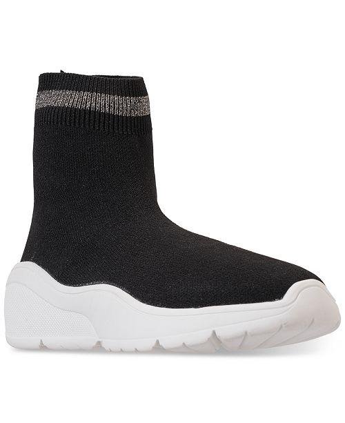 242d2cfe1ba Steve Madden Little Girls  JBitten High Top Casual Sneakers from Finish ...