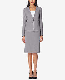 Tahari ASL Bar-Closure Skirt Suit