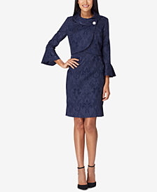 Tahari ASL Asymmetrical Jacquard Dress Suit
