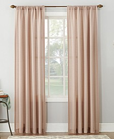 Amalfi Linen Blend Textured Sheer Rod Pocket Curtain Panel Collection
