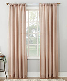 "Lichtenberg No. 918 Amalfi 54"" X 95"" Linen Blend Textured Sheer Rod Pocket Curtain Panel 54"" X 95"""