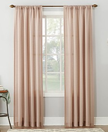 "Lichtenberg No. 918 Amalfi 54"" X 84"" Linen Blend Textured Sheer Rod Pocket Curtain Panel"