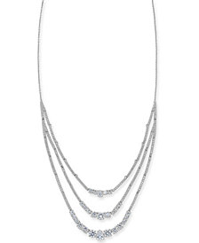 """Danori Crystal Triple-Layer Necklace, 16"""" + 1"""" extender, Created for Macy's"""
