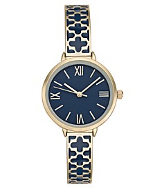 Women's Gold-Tone & Enamel Bracelet Watch 34mm, Created for Macy's