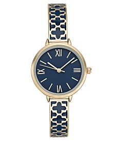 Charter Club Women's Gold-Tone & Enamel Bracelet Watch 34mm, Created for Macy's