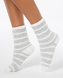 Marled Stripe Fuzzy Cozy Socks, Created for Macy's