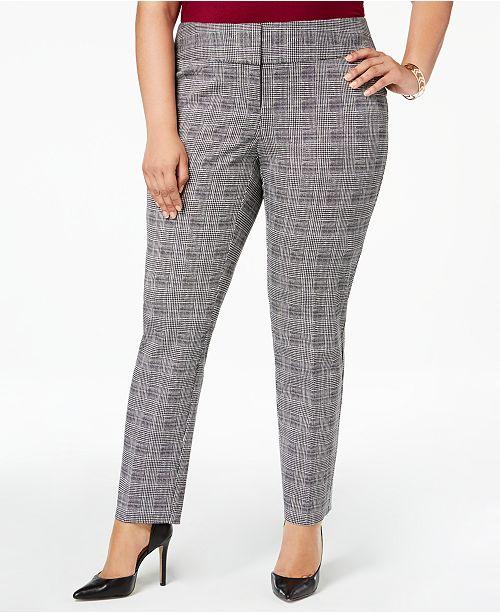 9f694993812f9 Alfani Plus Size Printed Wide-Waistband Slim Pants