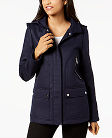 Celebrity Pink Juniors' Patch-Pocket Hooded Coat