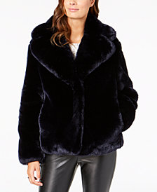 Vince Camuto Cropped Faux-Fur Coat