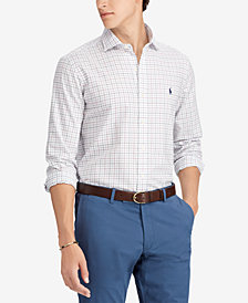 Polo Ralph Lauren Men's Big & Tall Classic-Fit Tattersall Shirt