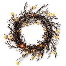National Tree Black Halloween Wreath