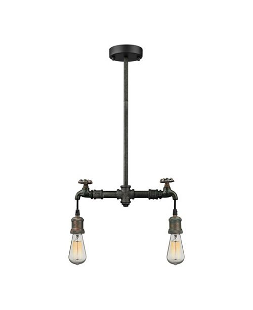 ELK Lighting Jonas Dual Pendant with Pipe Detail