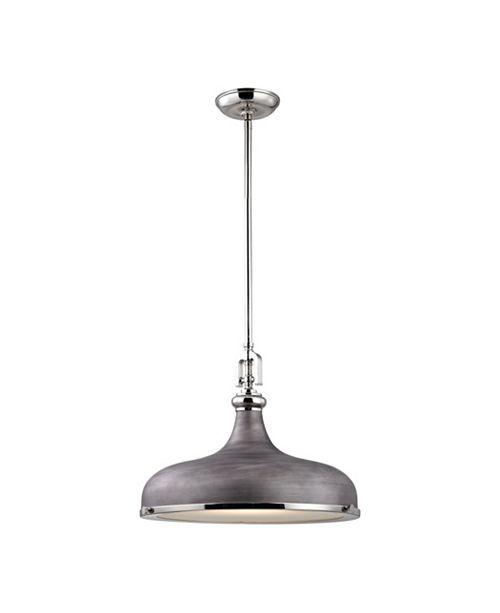 ELK Lighting RUTHERFORD PENDANT, Satin Nickel