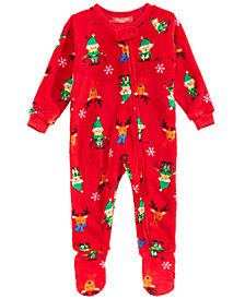 Matching Family Pajamas Infants Elf Footed Pajamas, Created for Macy's