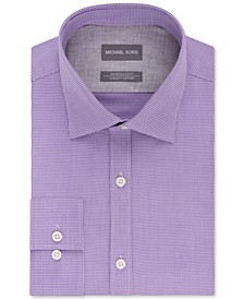Men's Classic/Regular Fit Non-Iron Airsoft Stretch Performance Check Dress Shirt, Online Exclusive
