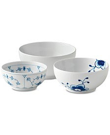 Royal Copenhagen Gifts With History Small Bowls, Set of 3